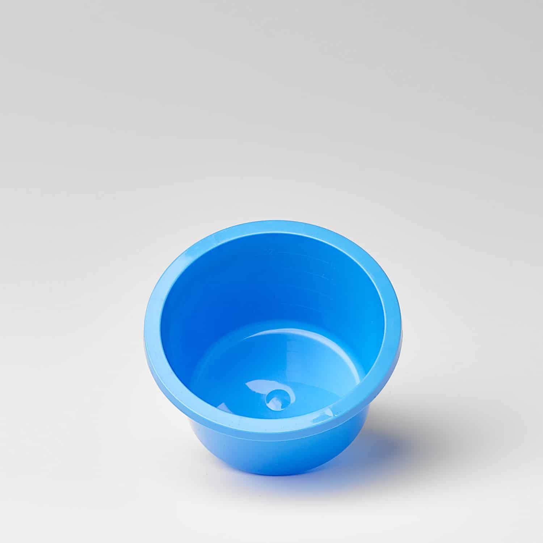 Kunststoffschale, Einwegschale, Einmalschale, 250ml blau