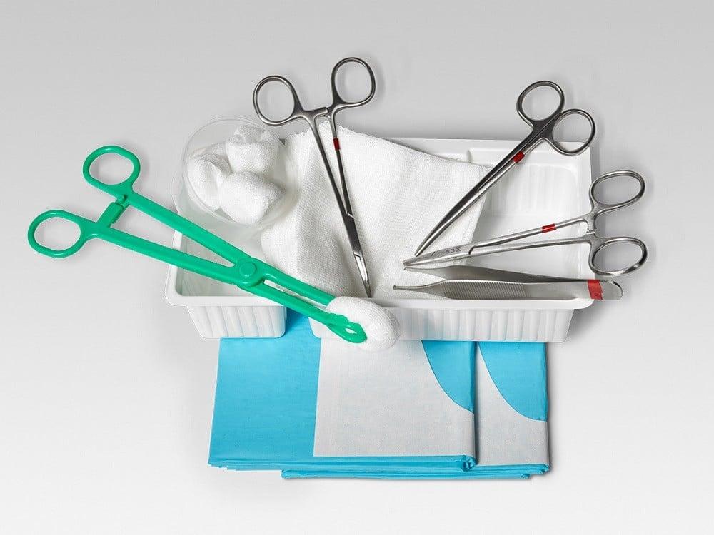 Steriles Behandlungsset: Wundversorgungs-Set fein